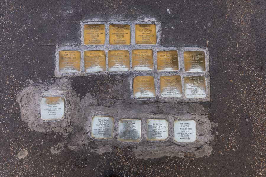 pietre d'inciampo di Gunter Demning al ghetto di Roma