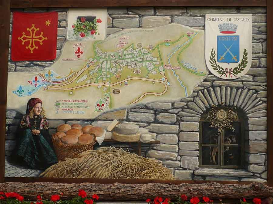 Usseaux murales