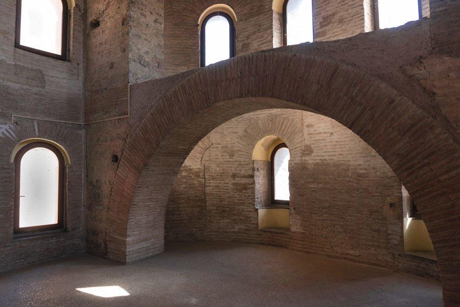 Interno del Museo delle Mura di Roma: la torre