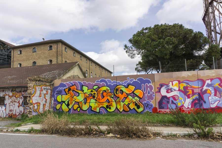 murales di Riva Ositense a Roma