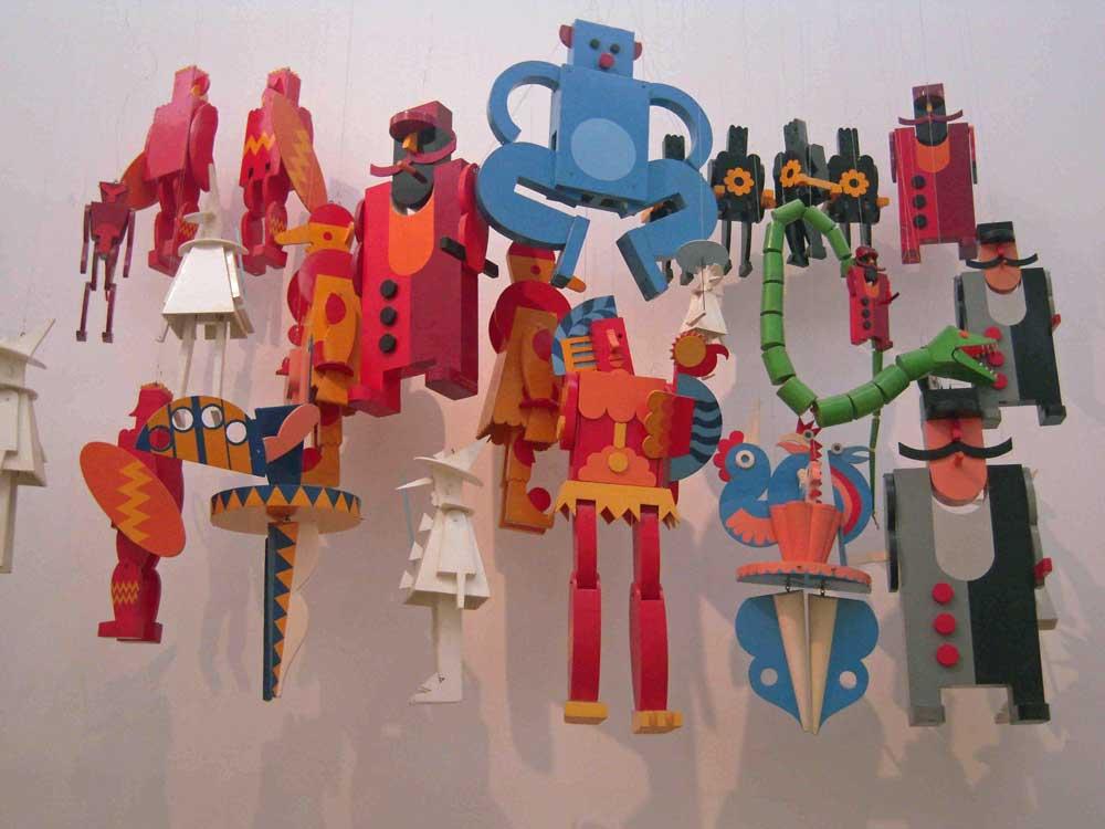 le marionette del Teatro Plastico alla Casa d'Arte Futurista Depero di Rovereto