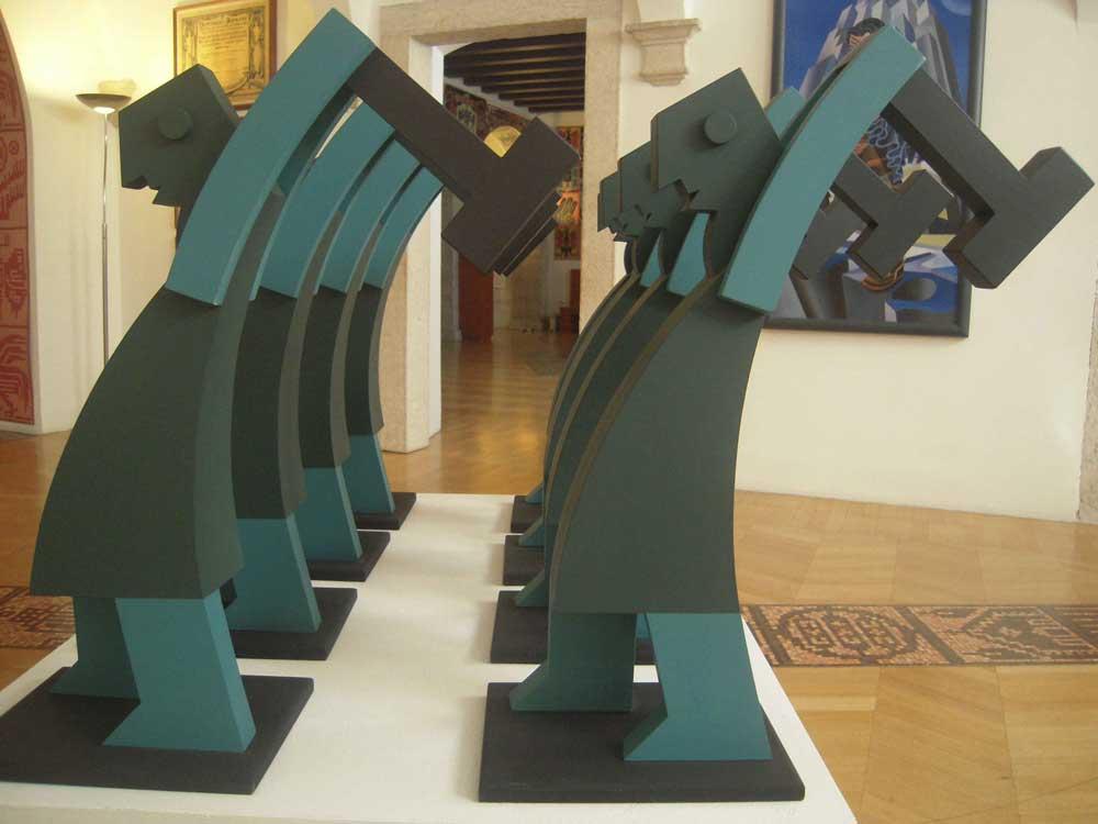 Casa d'Arte Futurista Depero di Rovereto: dettaglio delle sala espositiva