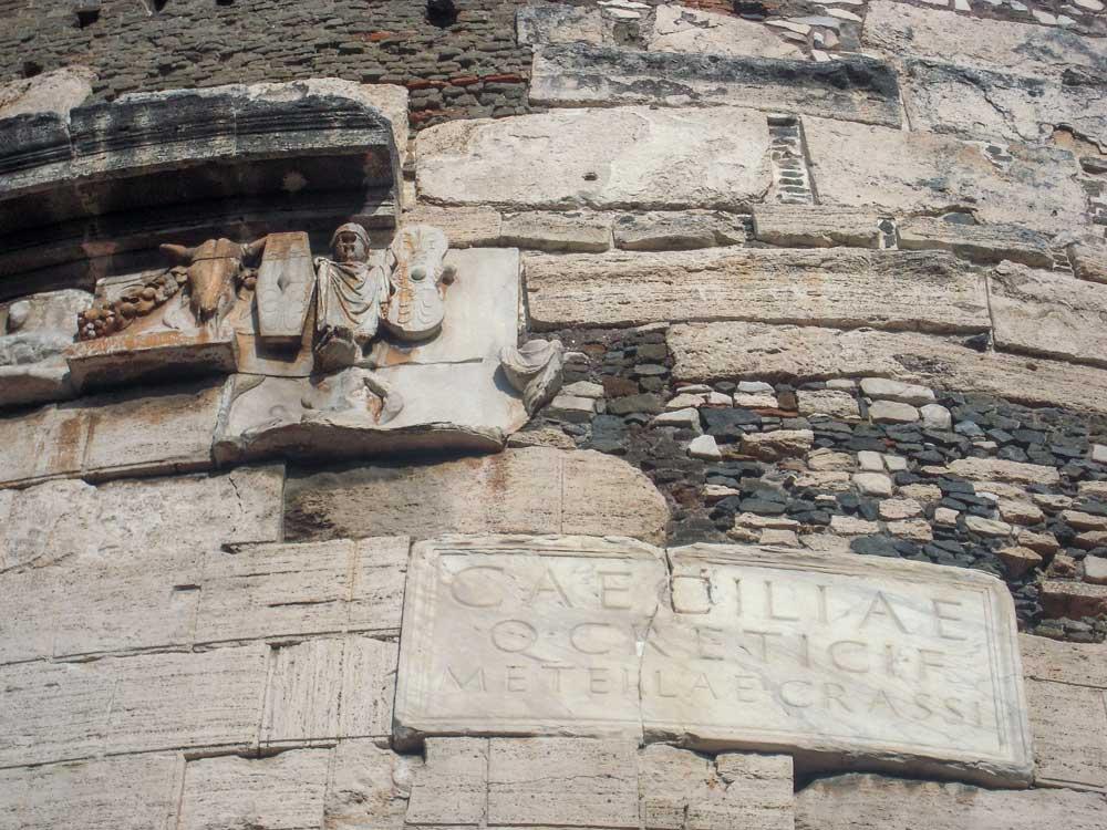 Mausoleo di Cecilia Metella incluso nella Mia Appia Card