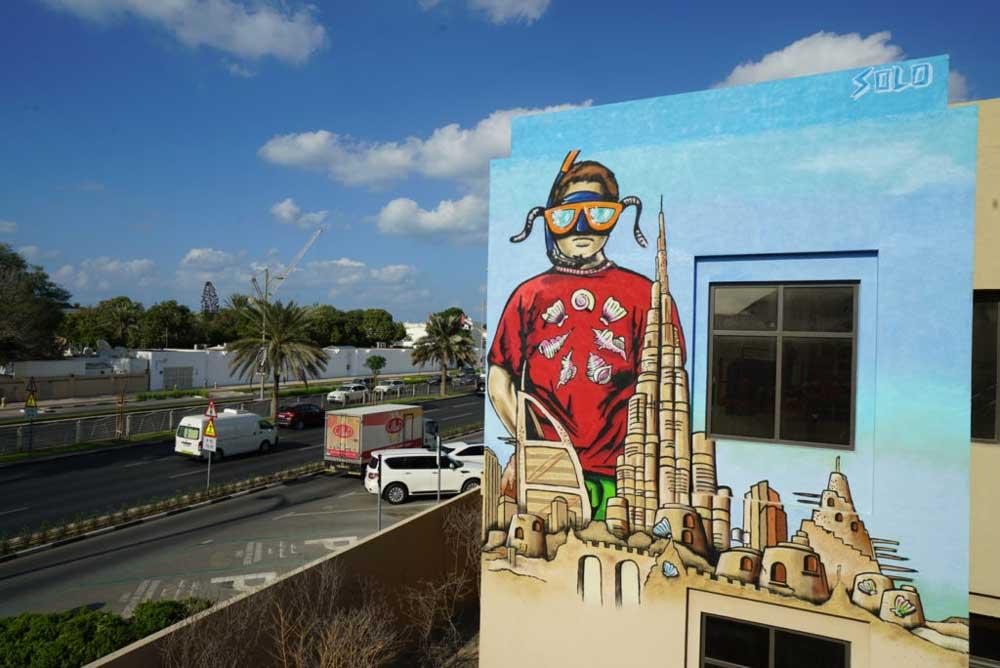 Street Art a Dubai: Flavio Solo
